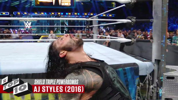 The Shield's greatest Triple Powerbombs: WWE Top 10, Oct. 23, 2017