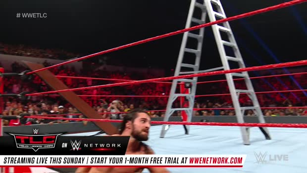 Seth Rollins vs. Baron Corbin - Intercontinental Championship Tables, Ladders & Chairs Match: Raw, Dec. 10, 2018