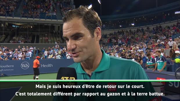 """Basket : Cincinnati - Federer - """"Heureux d'être de retour sur un court"""""""