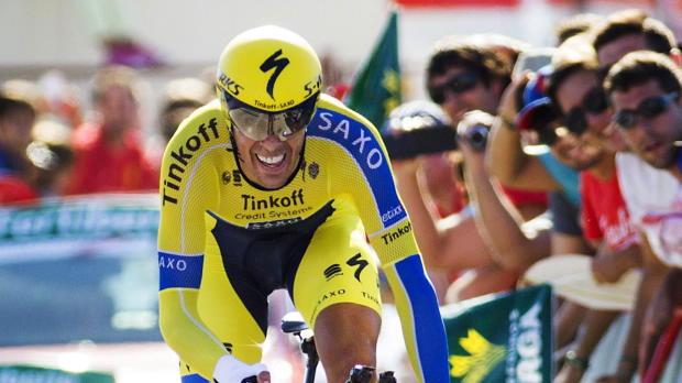 Vuelta a Espa�a - Alberto Contador da un golpe encima de la mesa