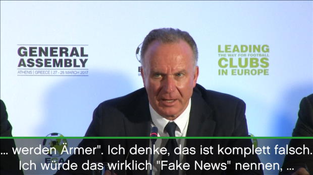 """Rummenigge a la Trump: Zu viele """"Fake News"""""""