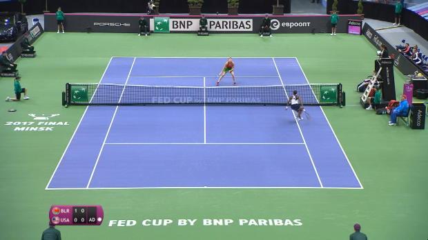 : Fed Cup - La Biélorussie et les Etats-Unis au coude à coude