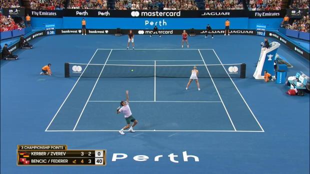 Hopman Cup: Federer hält Zverev in Schach