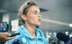 Jess Fishlock and Steph Catley spoke to the media at Tullamarine Airport on Monday evening after Melbourne City became the first team in Westfield W-League history to win back-to-back Championship titles.