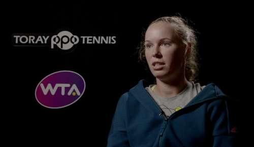 Wozniacki Interview: WTA Tokyo SF