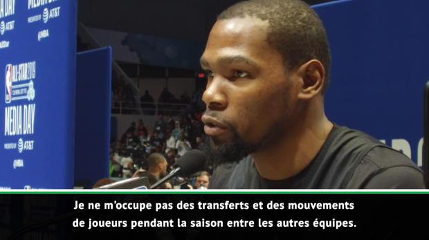 """Basket : NBA - Durant - """"Je ne me préoccupe pas des transferts de joueurs"""""""