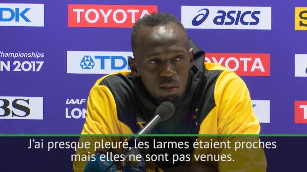 Mondiaux 2017 - Bolt a 'presque pleuré' lors de son tour d'honneur