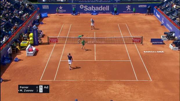 Tennis : Barcelone - Ferrer entame son jubilé en dominant Zverev