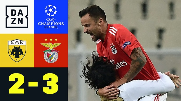 UEFA Champions League: AEK Athen - Benfica Lissabon | DAZN Highlights