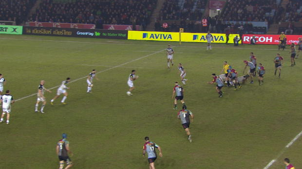 Aviva Premiership - Mat Luamanu big hit for Harlequins