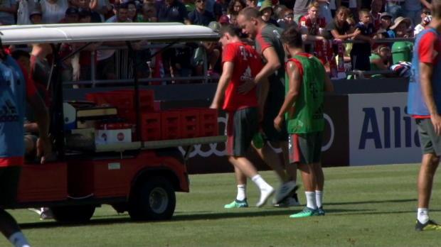 Rudy-Schrecksekunde im Bayern-Training