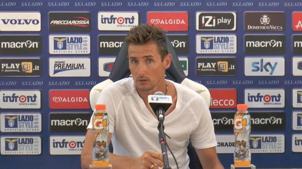 A 36 ans, Miroslav Klose dispute peut être la dernière saison de sa carrière de joueur. Et l'Allemand, meilleur buteur de l'histoire de la Coupe du Monde, espère bien se qualifier pour la prochaine Coupe d'Europe avec le club romain.
