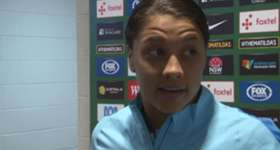 Westfield Matildas star Sam Kerr has been blown away by how great the support has been for the team in Australia.