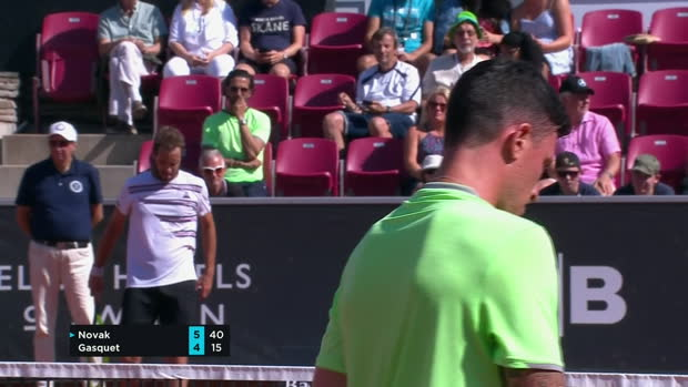 Tennis : Bastad - Gasquet dans la douleur
