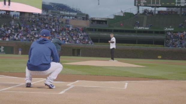 MLB: Schweinsteiger mit First Pitch beim Meister