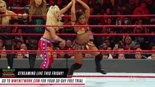 Nia Jax, Natalya, Sasha Banks, Bayley & Ember Moon vs. Alexa Bliss, Mickie James & The Riott Squad: Raw, April 23, 2018