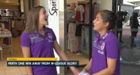 Perth Glory's Natasha Rigby and Arianna Romero says their side is pumped to be hosting the Westfield W-League Grand Final.