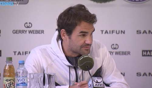 Federer Interview: ATP Halle SF