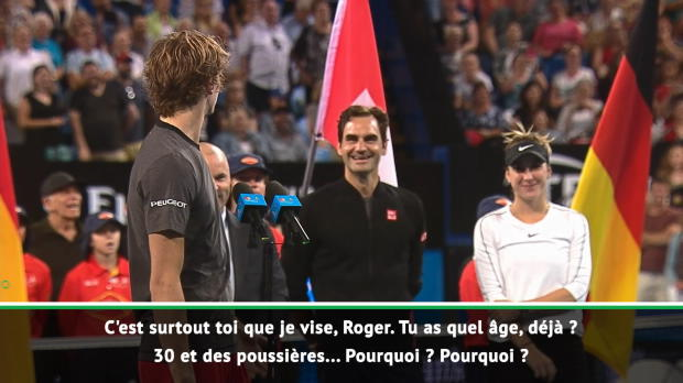 """Basket : Hopman Cup - """"Tu ne peux pas nous laisser gagner rien qu'une fois ?"""" - Zverev apostrophe Federer"""