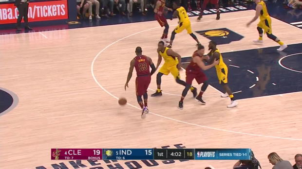 WSC: LeBron James (28 points) Highlights vs. Indiana Pacers, 04/20/2018
