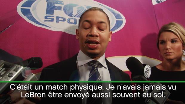 """Basket : NBA - Cavs - Lue - """"Je n'avais jamais vu LeBron autant au sol"""""""
