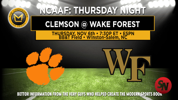 Clemson Tigers @ Wake Forest Demon Deacons