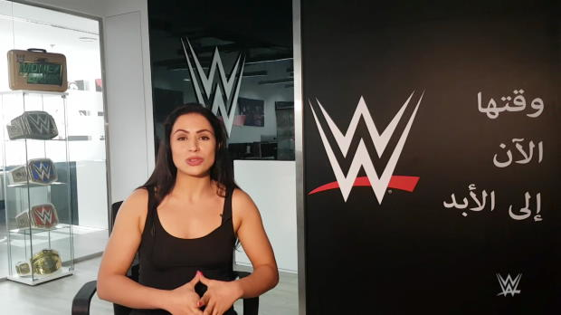 Who had concerns about Shadia Bseiso joining WWE?