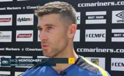 Nick Montgomery says Central Coast are confident they're capable of handing Sydney FC their first loss of the season.