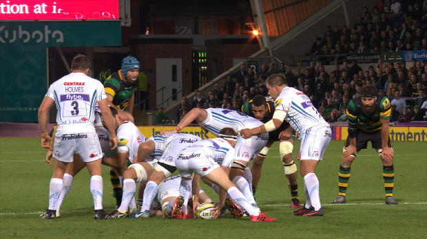 Aviva Premiership - Mitch Lees big hit on Ben Foden