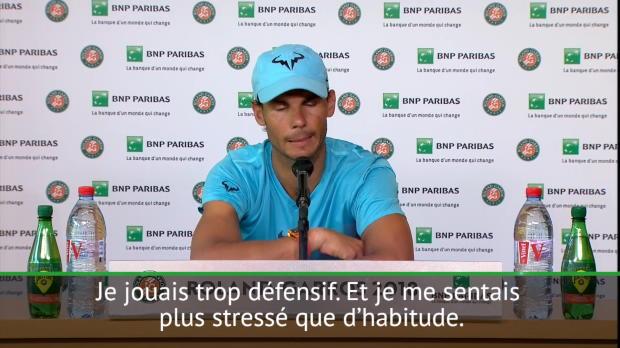 : Roland Garros - Nadal - 'L'interruption d'hier m'a aidé'