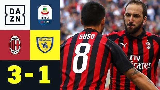 Serie A: AC Mailand - Chievo Verona | DAZN Highlights