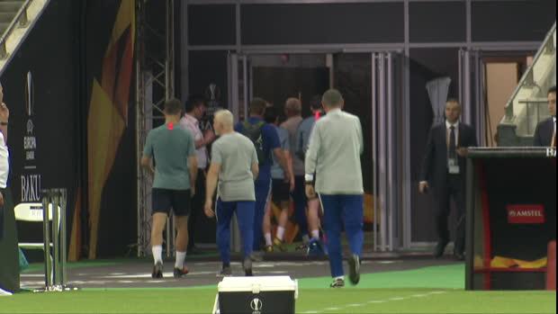 Sarri auf 180 beim Training vor dem EL-Finale