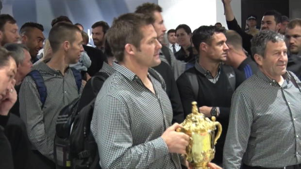 CdM 2015 - Les All Blacks accueillis en h�ros