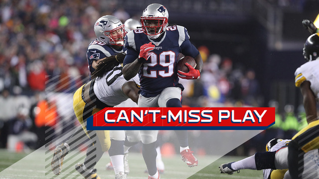 Can't-Miss Play: LeGarrette Blount carries seven defenders on 18-yard run