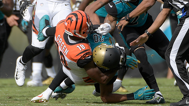 Video  Cinncinatti Bengals wide receiver A.J. Green and Jacksonville ... fe745e3c9