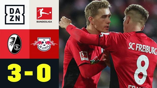 Bundesliga: SC Freiburg - RB Leipzig | DAZN Highlights