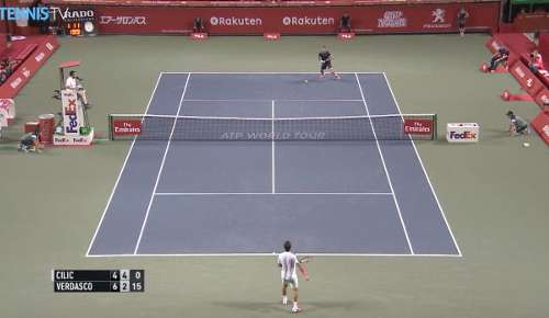 Verdasco Hot Shot: ATP Tokyo R2
