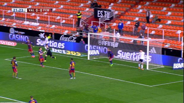 Copa del Rey Semi-final: Valencia 1-1 Barcelona