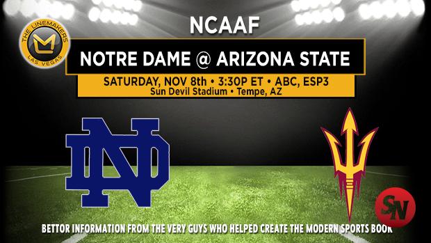 Notre Dame Fighting Irish @ Arizona State Sun Devils