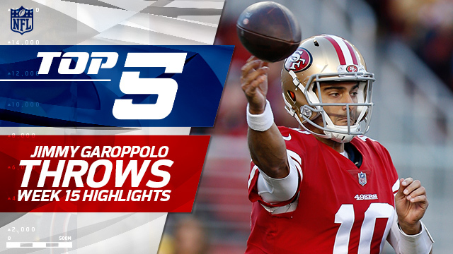Top 5 Jimmy Garoppolo throws | Week 15
