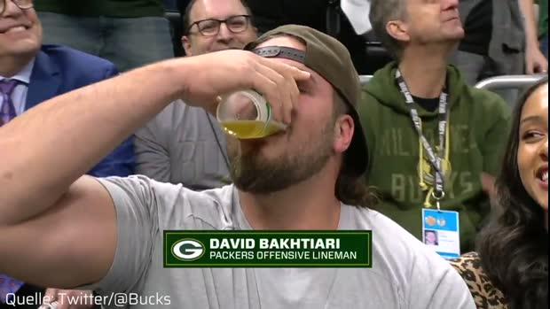 Bakhtiari zerstört Aaron Rodgers beim Wettsaufen | NBA Viral