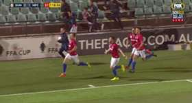 Sydney United's Adrian Vranic netted deep in stoppage time to make it 1-1 against Heidelberg United.