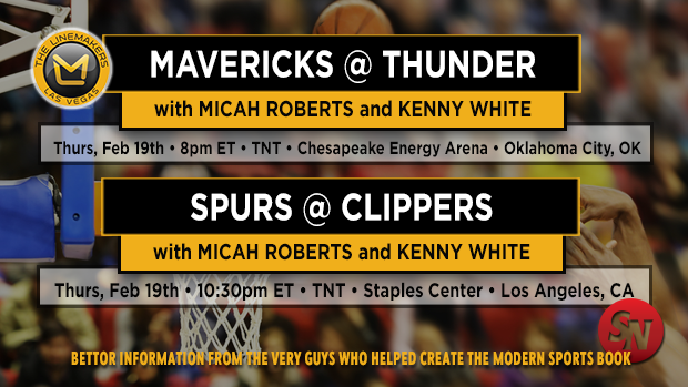 Mavericks @ Thunder  and  Spurs @ Clippers