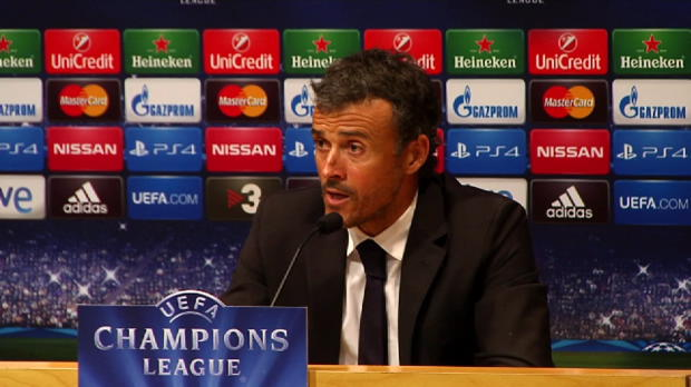 "Foot : LDC - Groupe F, FC Barcelone, Enrique : ""Le match m'a plu"""