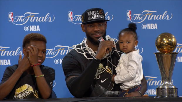 """Basket : NBA - Finales - LeBron James - """"La plus grande fête de Cleveland"""""""