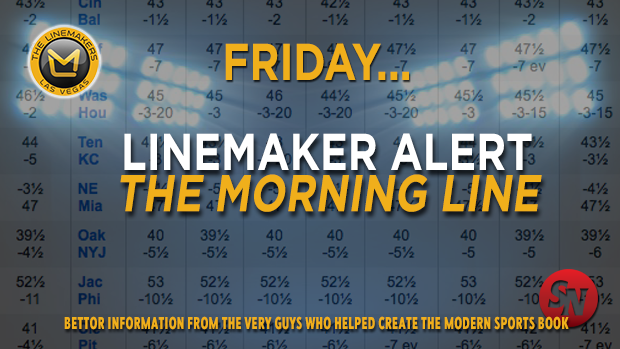 The Morning Line for Friday, October 10th