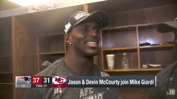 McCourty twins Devin and Jason discuss winning AFC Championship Game together