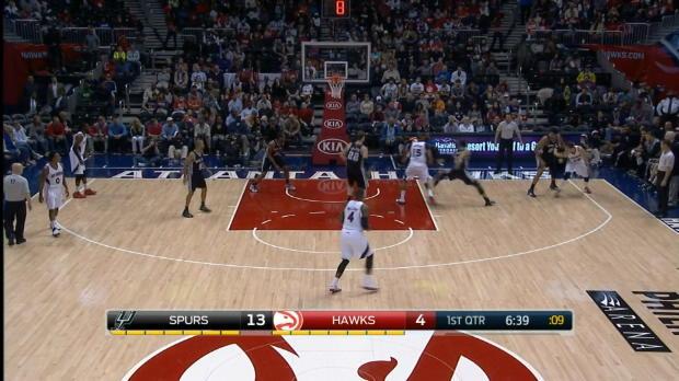 Basket : NBA - San Antonio déroule à Atlanta