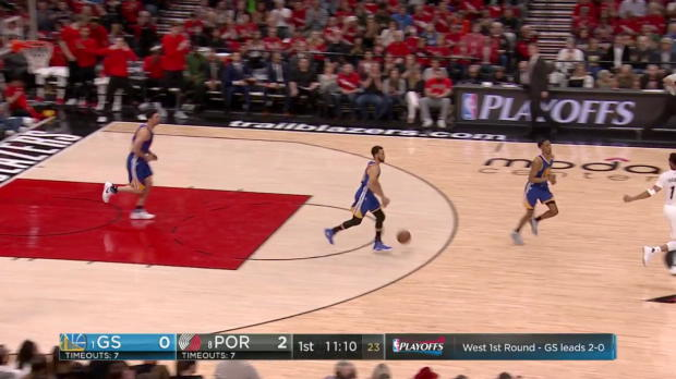 WSC: Mix clip: More than 27 points of Stephen Curry, CJ McCollum, Damian Lillard in Golden State Warriors vs. the Trail Blazers, 4/22/2017