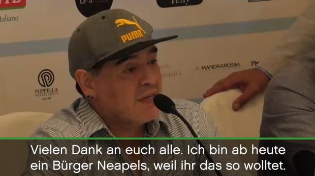 """Maradona: """"Neapolitaner, weil ihr das wolltet"""""""